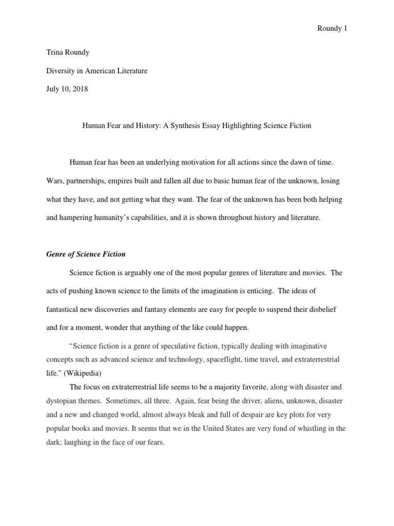 What Is A Thesis Of An Essay  Reflective Essay Thesis Statement Examples also Topics For An Essay Paper Synthesis Essay   Science Fiction  Fiction  Literature Examples Of Thesis Statements For Essays