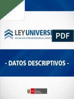 Ley Universitaria Datos Descriptivos