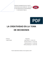 La Creatividad en La Toma de Decisiones PDF
