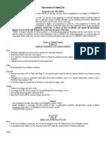 Mock Recitation-Characteristic of Criminal Law