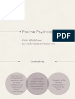 Positive Psychology Lectures