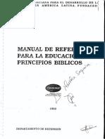 Manual de Referencias Para La Educacion Por Principios Biblicos