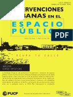 Intervenciones Urbanas en el Espacio Público | FAU - PUCP