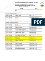 43rd Annual National Convention Schedule of Activities (Revised & Final)