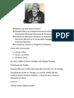 Biografia Omar Zelaya