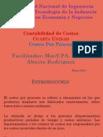 Diapositivas Costeo Por Proceso Mayo 2018