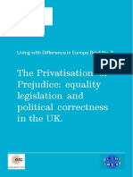 The Privatisation of Prejudice Equality Legislation and Political Correctness in the UK Difference Final 1