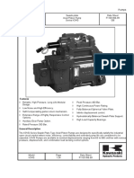 Kawasaki Series k3vg Axial Piston Pumps Catalogue En