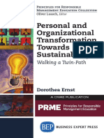Personal and Organizational Transformation Towards Sustainability-Walking a Twin Path