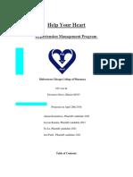 Hypertension Business Service Plan