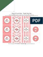Printable Pink Ribbon Party Circles - The TomKat Studio