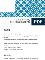 Factors Affecting Microorganism Activity