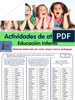 21 Fichas de Atencion Infantil Auditiva