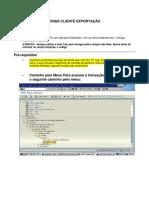 SAP XD01 - Criar Cliente Exportação