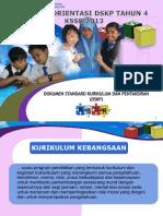 Cadangan Kursus Orientasi DSKP (Peringkat JPN)