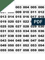 Lucky Draw Numbers English Language Week 2015