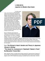 Takahashi Takako - Life and Work