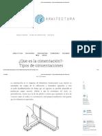 ¿Que Es La Cimentación- Tipos de Cimientaciones de Arkitectura