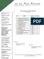 List of Medical Supplies