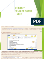 Unidad 2 El Entorno de Word 2013