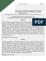 Plantilla-para-la-revista-eciperu Nivel de Contaminacion de La Quebrada Mananay Por Aguas Residuales – Afluente Del Rio Ucayali- Provincia de Coronel Portillo%2c 2017