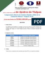 I Campeonato Abierto de Ajedrez Rápido y Blitz de La Ciudad de México 2018
