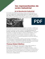 Principales Representantes de La Revolución Industrial