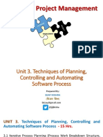 Unit 3. Techniques of Planning, Controlling and Automating Software Process