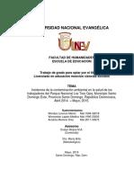 Tesis Contaminacion Ambiental Parque Nacional Los Tres Ojos1