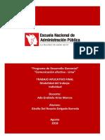 Trabajo Aplicativo Final Comunicacion Efectiva Pdg Lima.doc