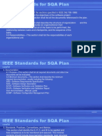 IEEE Standards for SQA Plan