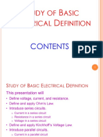 02 Study of Basic Electrical Definitoin 20170622