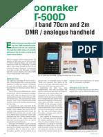 Moonraker HT-500D Dual Band DMR Handheld