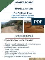Unpaved Roads