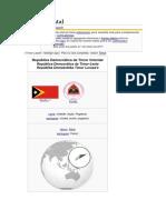 Timor Oriental Usa