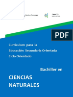 Curriculum del ciclo orientado en ciencias naturales Chaco