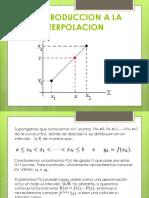 4.2 Introduccion a La Interpolacion