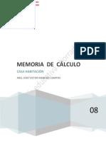 MEMORIA DE CALCULO CASA VIVIENDA