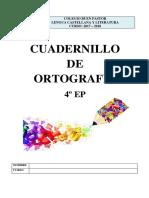 Cuadernillo Ortografia 4EP 2017-18