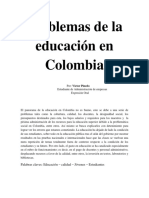 Problemas de La Educación en Colombia