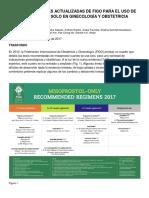 Recomendaciones Figo-misoprostol Solo
