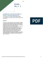 Investigando o Processo de Adoção No Brasil e o Perfil Dos Adotantes