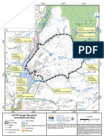 Map of Area Restrictions for the Sugar Mountain and Mabel Creek wildfires