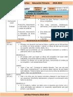 Agosto - 1er Grado Español (2018-2019)