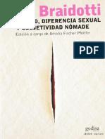 Rosi Braidotti - Feminismo, diferencia sexual y subjetividad nomade.pdf