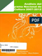 Analisis Del Programa Nacional de Cultura