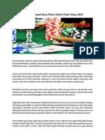 Bonus Melimpah Situs Poker Online Pada Tahun 2015.