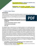 Formalizacion de Los Empresarios de Las Micro y Pequeñas Empresas Textiles y Los Programas de Apoyo Empresarial Del Estado Peruano en El Emporio Comercial de Gamarra