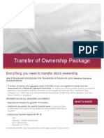 Transfer of Ownership Package
