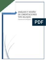 Análisis y Diseño de Cimentaciones Tipo Bloque
